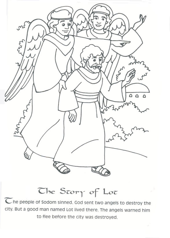 Sodom And Gomorrah Coloring 소돔과 고모라 색칠공부자료 Story Coloring Book