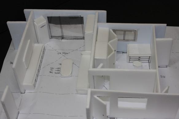 Unit 계획 - 거실과 침실에 대한 가구배치 및 모델링 작업-1