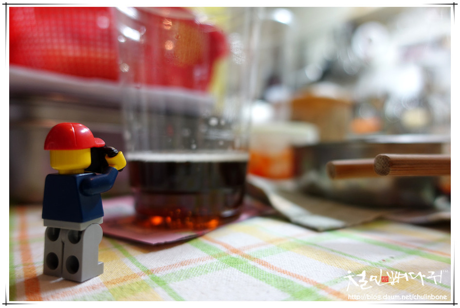 [레고사진사] 부추전에 맥콜한잔(브로콜리 심야식당)