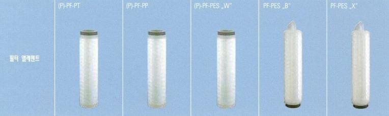 Donaldson사의 리퀴드 Filter Element 종류