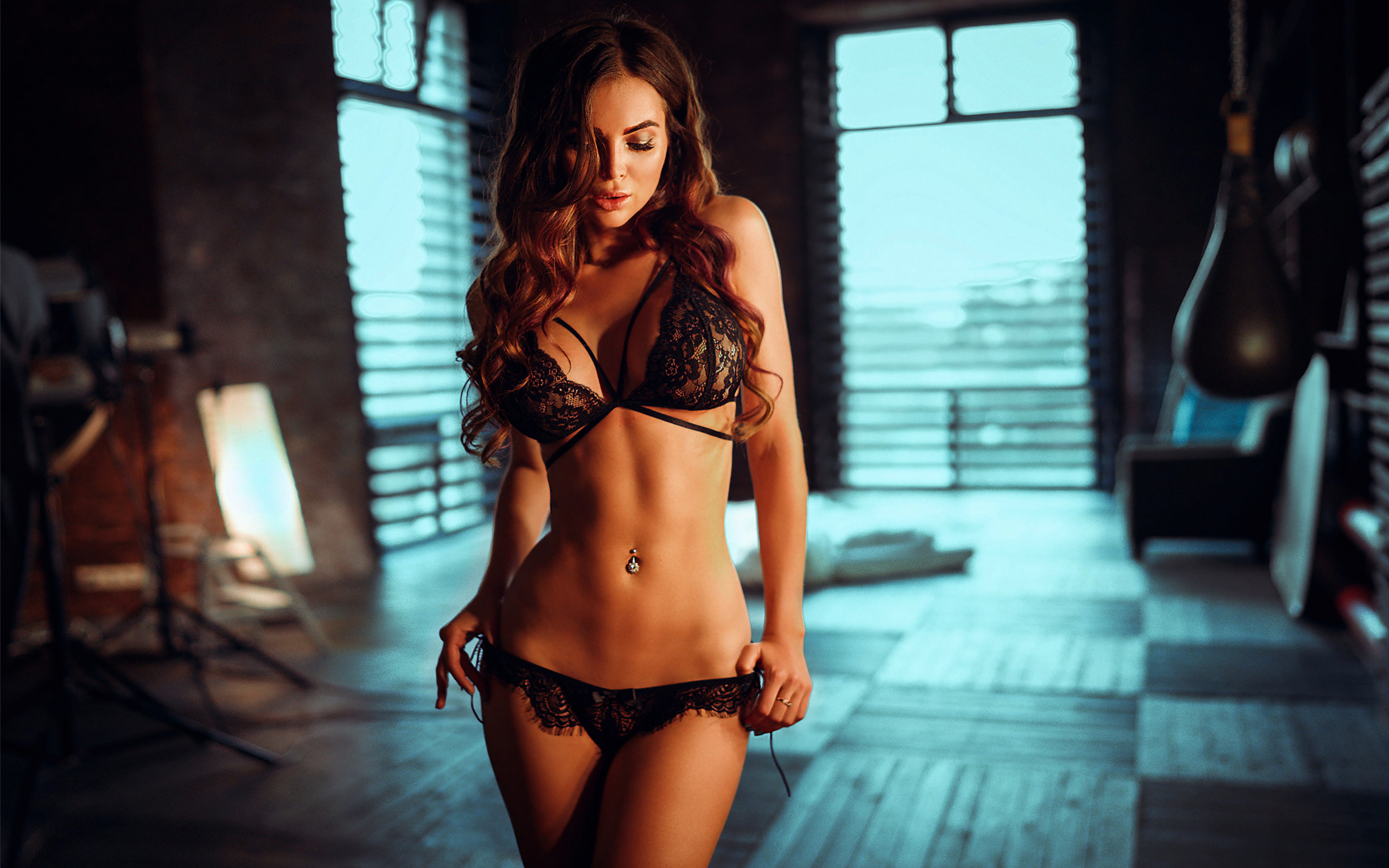 hot glamour in sexy lingerie